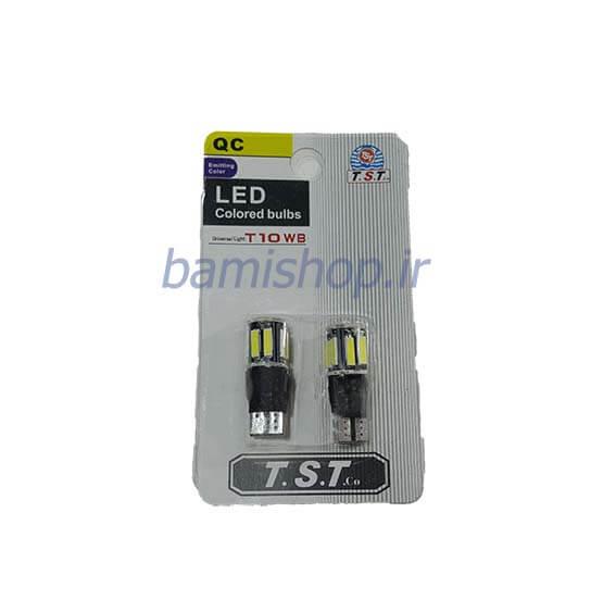 لامپ چراغ شب 10 smd LED پایه T10