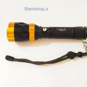 چراغ قوه پلیسی شارژی 60000W usa مدل U07