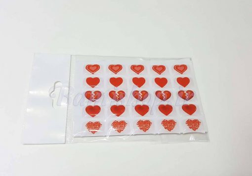 برچسب سه بعدی ژله ای قلب
