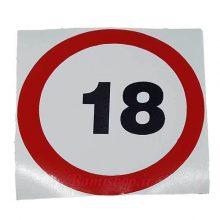 برچسب ممنوع ماشین 18