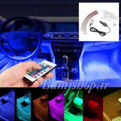 کیت نورپردازی زیر خودرو ریموت دار دارای حسگر صوتی رقص نور