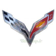 آرم برجسته شورولت کوروت corvette logo