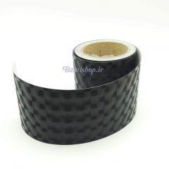 برچسب کربن سه بعدی طرح دایره مشکی