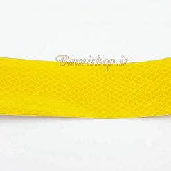 برچسب نوار شبرنگ لانه زنبوری 5 سانتی زرد ماشین