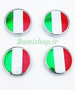آرم وسط رینگ پرچم ایران و ایتالیا