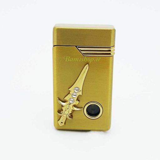 فندک شمشیر طلایی گازی
