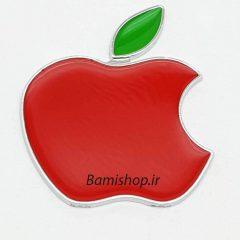 آرم فلزی اپل چسب دار