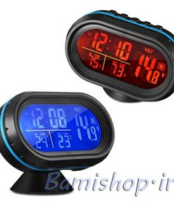 ساعت دیجیتال دماسنج و ولتمتر دار