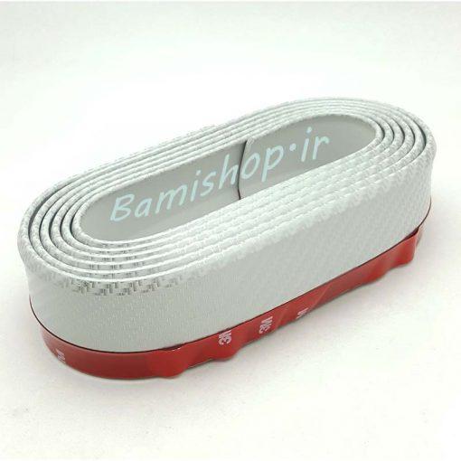 بامپر سپر( لیپ زیر سپر ) سفید طرح کربن