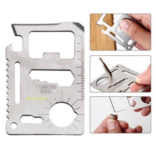 ابزار کارتی 11 کاره استیل
