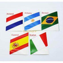 استیکر پرچم کشور هلند ایتالیا اسپانیا آرژانتین برزیل